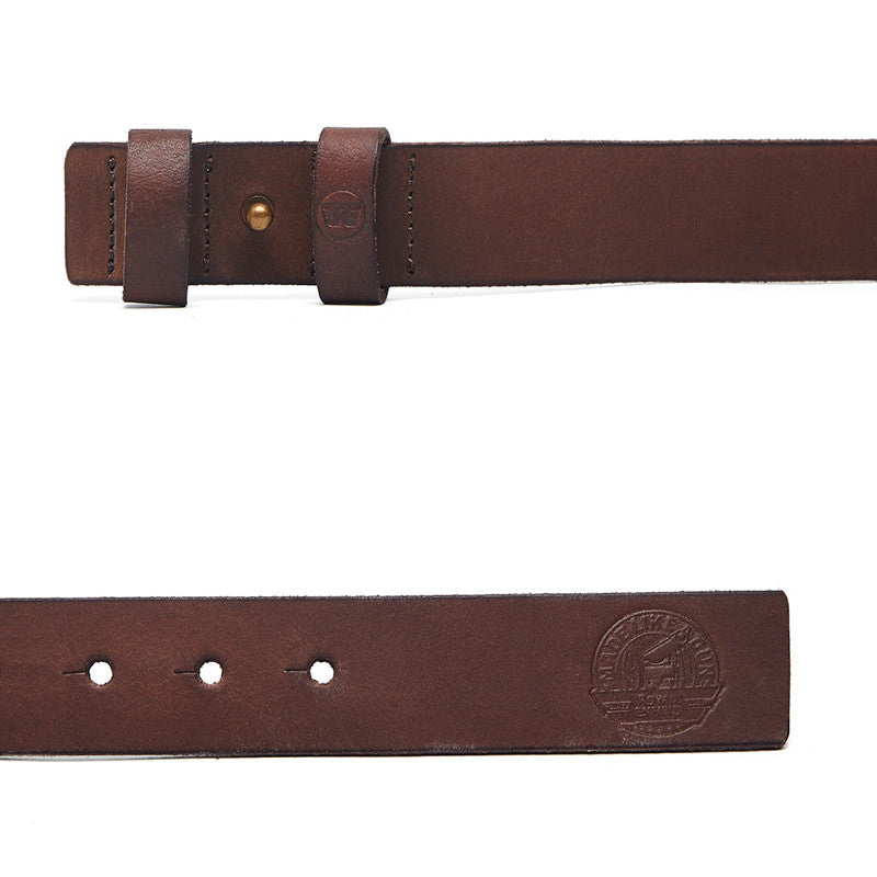 Single Stud Belt Brown