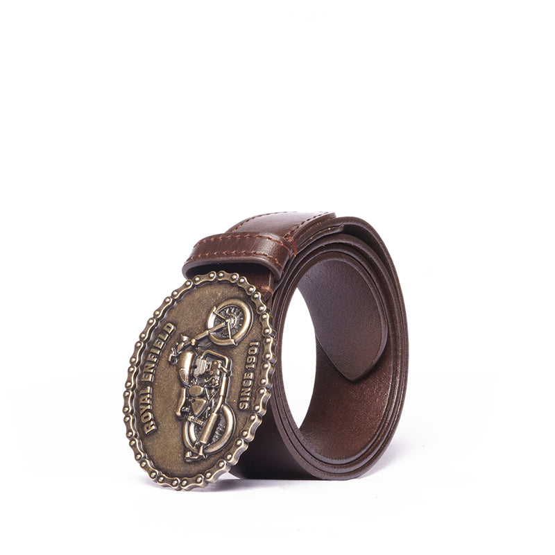 BUCKLE UP BELT-BROWN