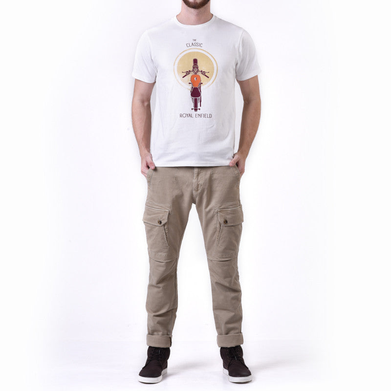 Illustrated Re Classic Top Graphic Tee White - Royal Enfield