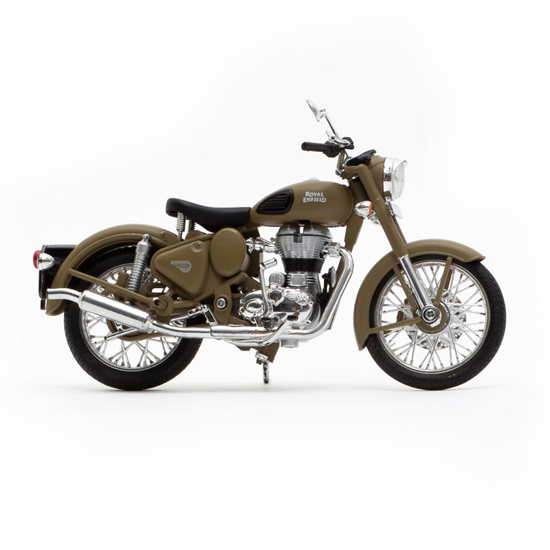Royal Enfield classic 500 1:12 scale model Desert storm