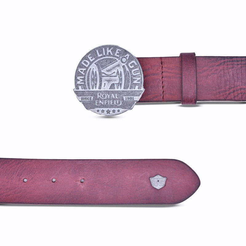 Made Like A Gun Leather Belt Red