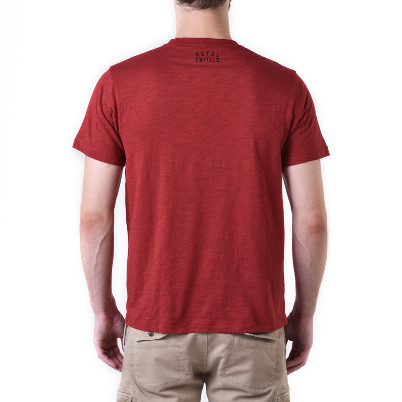 Easy Single Graphic Tee Maroon - Royal Enfield