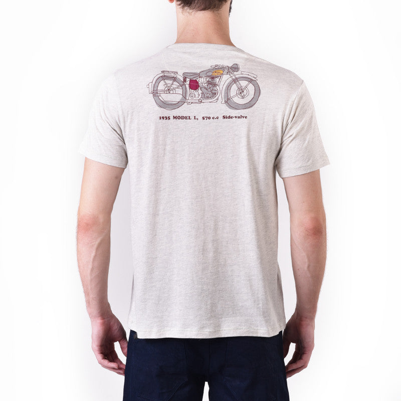 1935 Model L Graphic Tee White - Royal Enfield