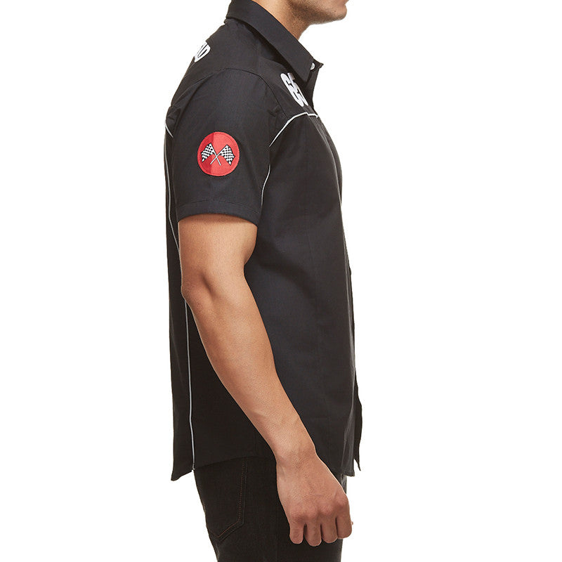 Gt Vintage Pit Shirt Black - Royal Enfield