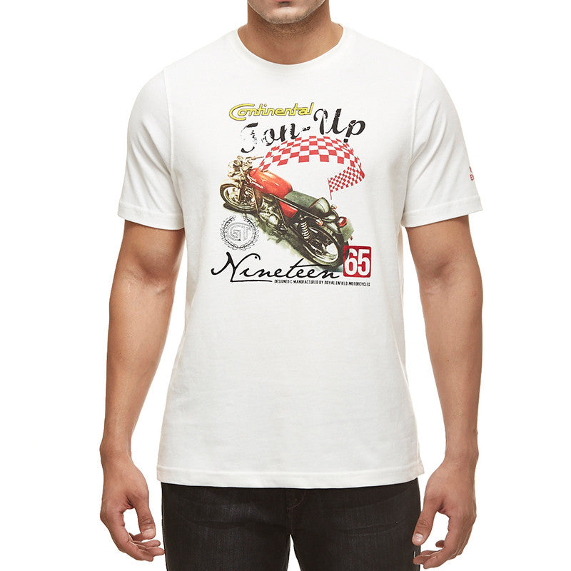 Gt Ton Up Tee White - Royal Enfield
