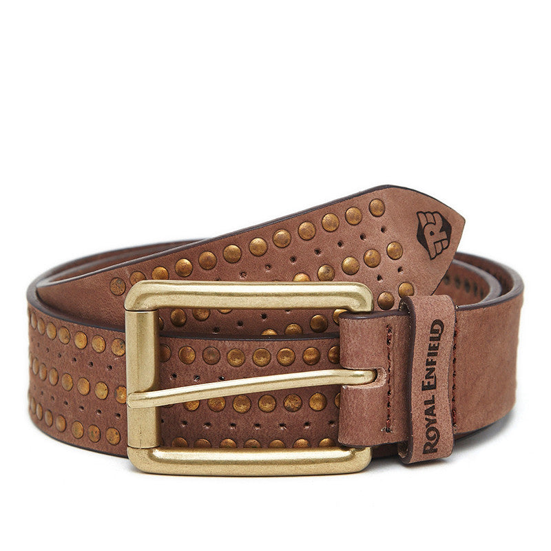 Gt Studded Belt Brown - Royal Enfield