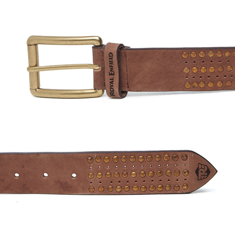 Gt Studded Belt Brown