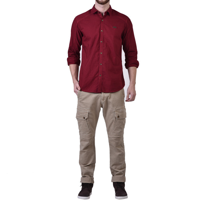 Colburn Over Dyed Shirt Red - Royal Enfield