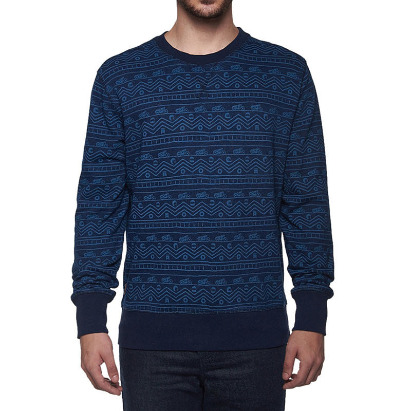 Indigo All Over Sweatshirt Indigo