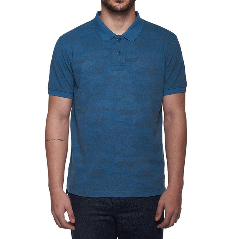 Camo Polo T-Shirt Navy