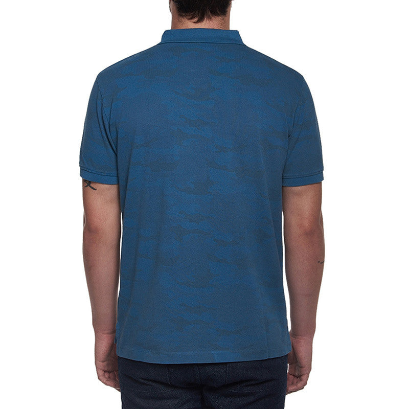 Camo Polo T-Shirt Navy - Royal Enfield