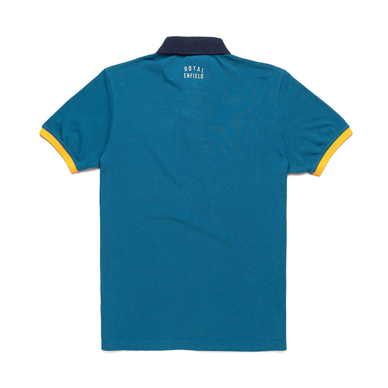Count The Contrast Polo T-Shirt-Deep Teal