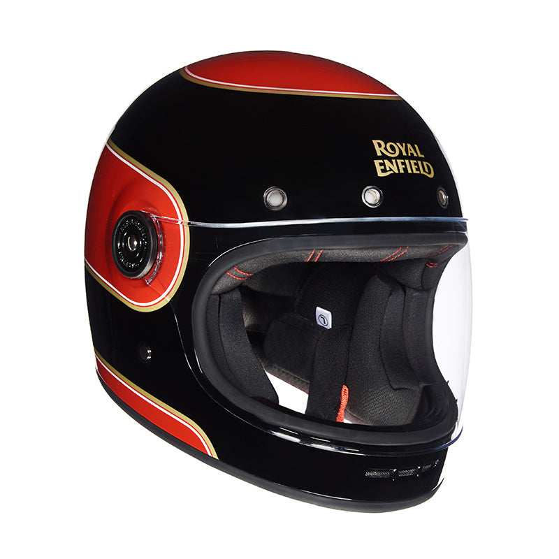 Drifter Helmet Bruntingthorpe Stripes Black Red