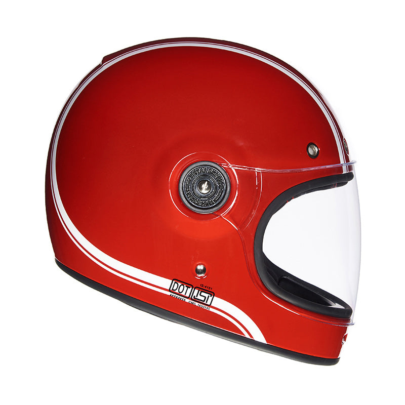 Drifter Helmet Classic Stripes Redditch Red - Royal Enfield