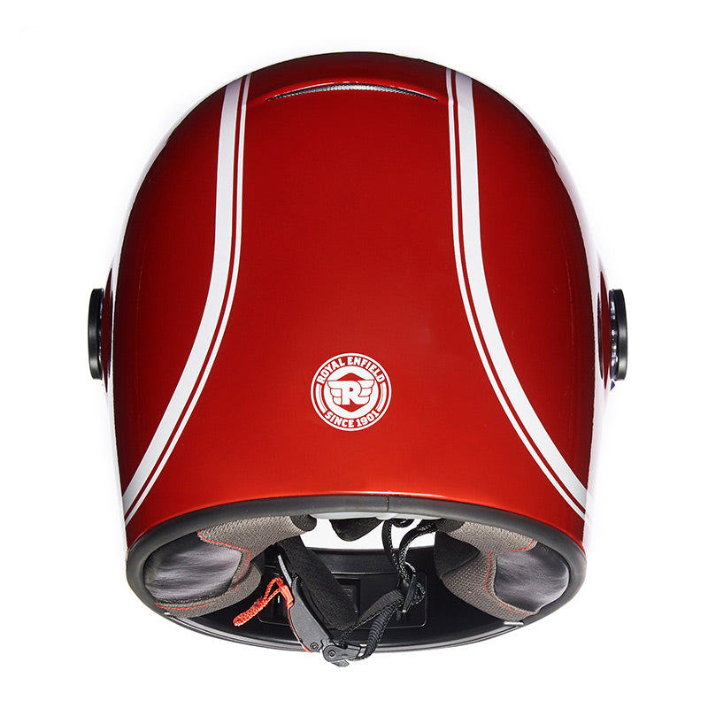 Drifter Helmet Classic Stripes Redditch Red