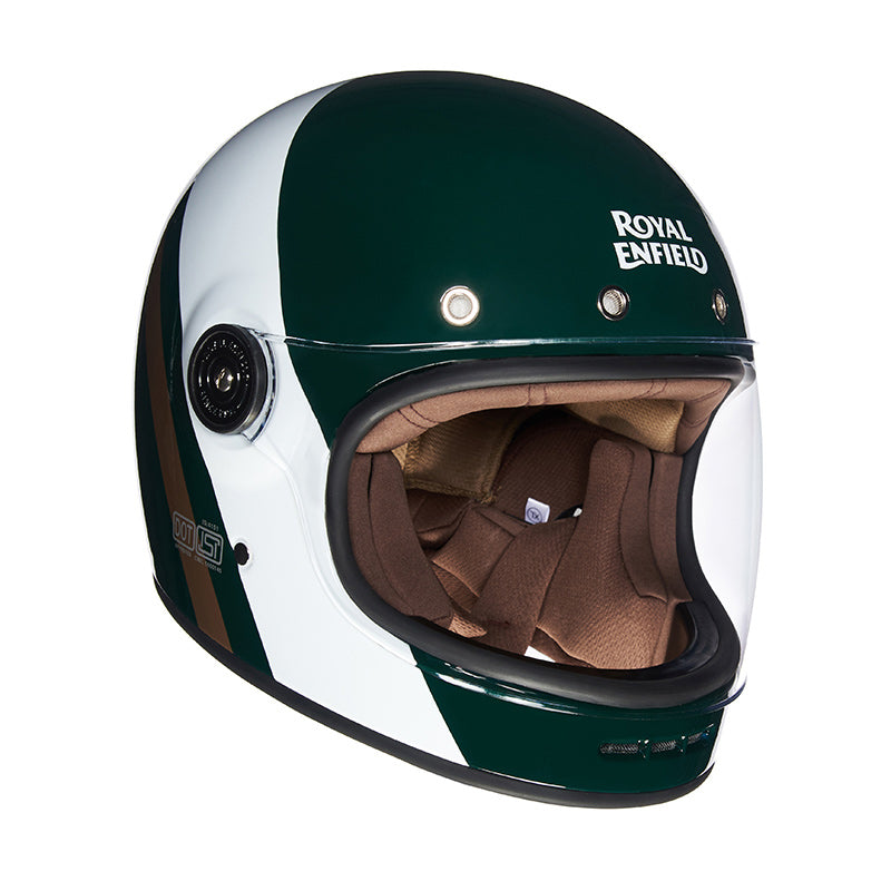 Drifter Helmet True Stripes Green White - Royal Enfield