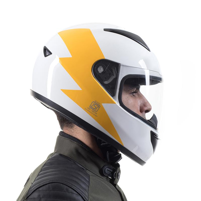 Bolt Full Face Helmet White