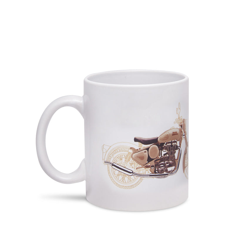 Desert Storm Mantra Coffee Mug White - Royal Enfield