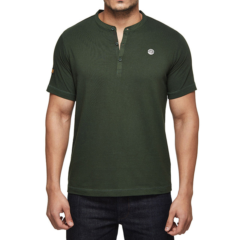 Standard Signals Henley Tee Olive