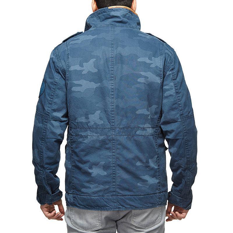 Classic Field Camo Jacket Poly Blue