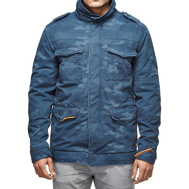 Classic Field Camo Jacket Poly Blue - Royal Enfield