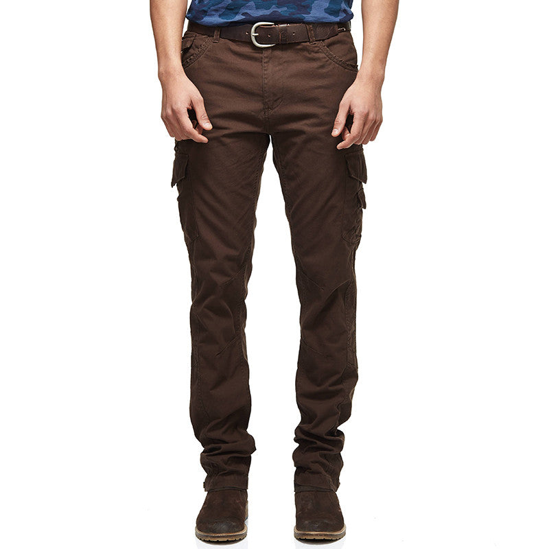 Classic Slim Utility Khakis Dark Brown