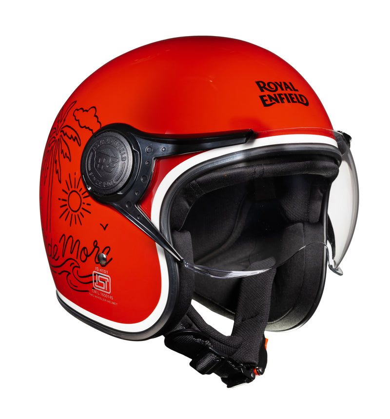 Ride More Open Face helmet Red
