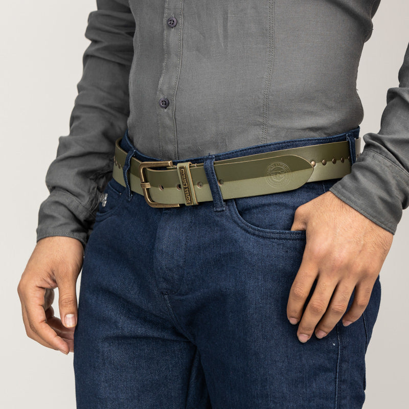 SPLIT LANE BELT - Olive
