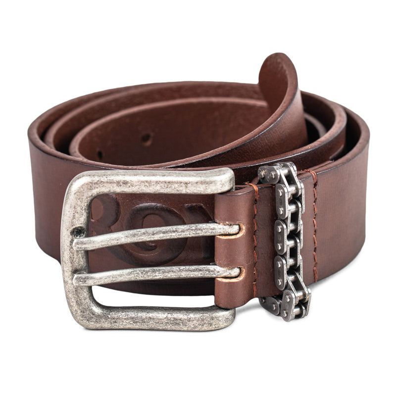 CHAIN LOOP BELT - BROWN
