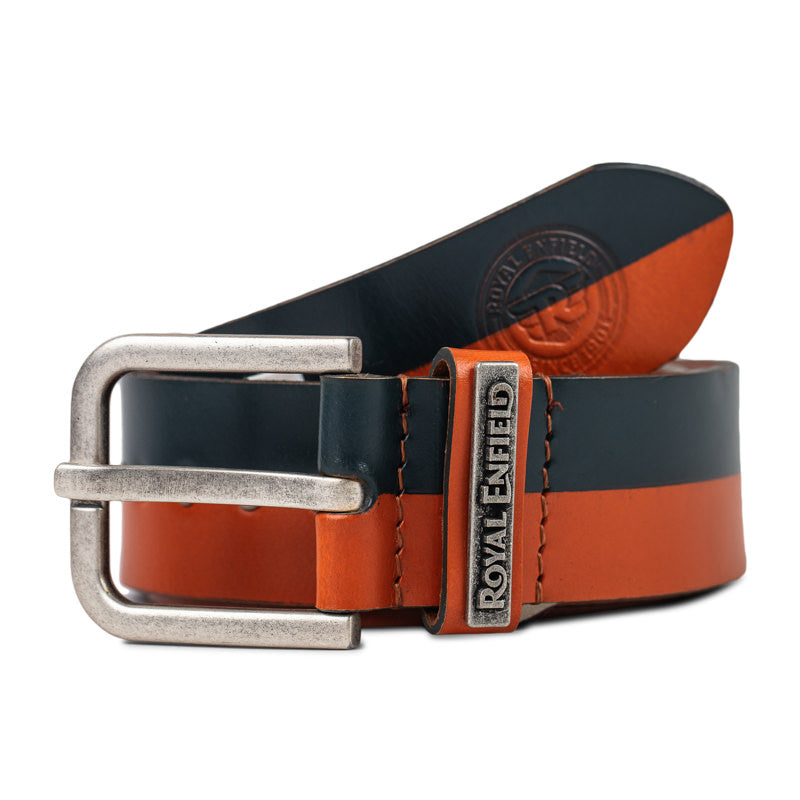 SPLIT LANE BELT - NAVY TAN