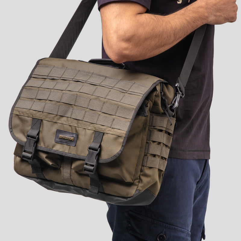 SIERRA TACTICAL MESSENGER BAG - OLIVE