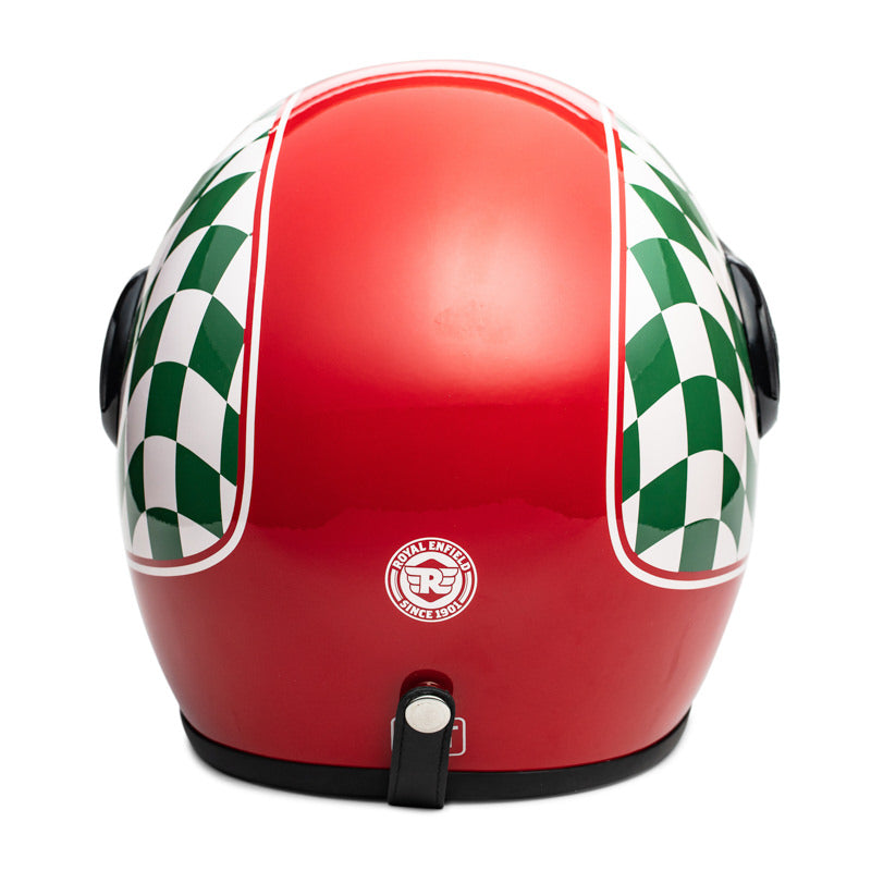 CHEQUERED HELMET - RED