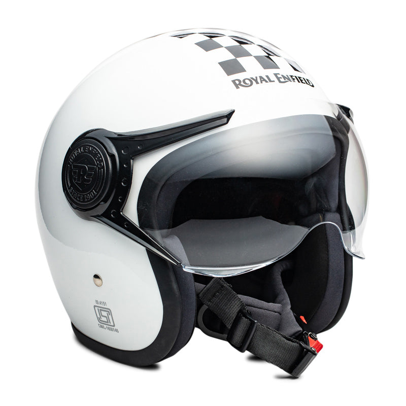 CHEQUERED HELMET - WHITE