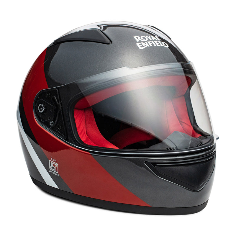 STREET PRIME HELMET TRUE STRIPES - GREY & RED