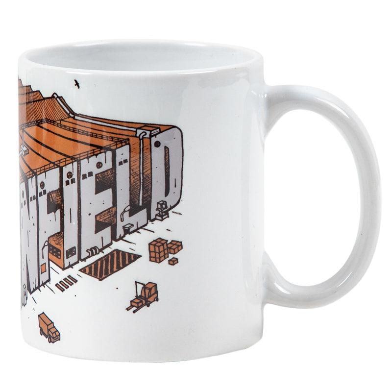 ISOMETRIC FACTORY COFFEE MUG - WHITE