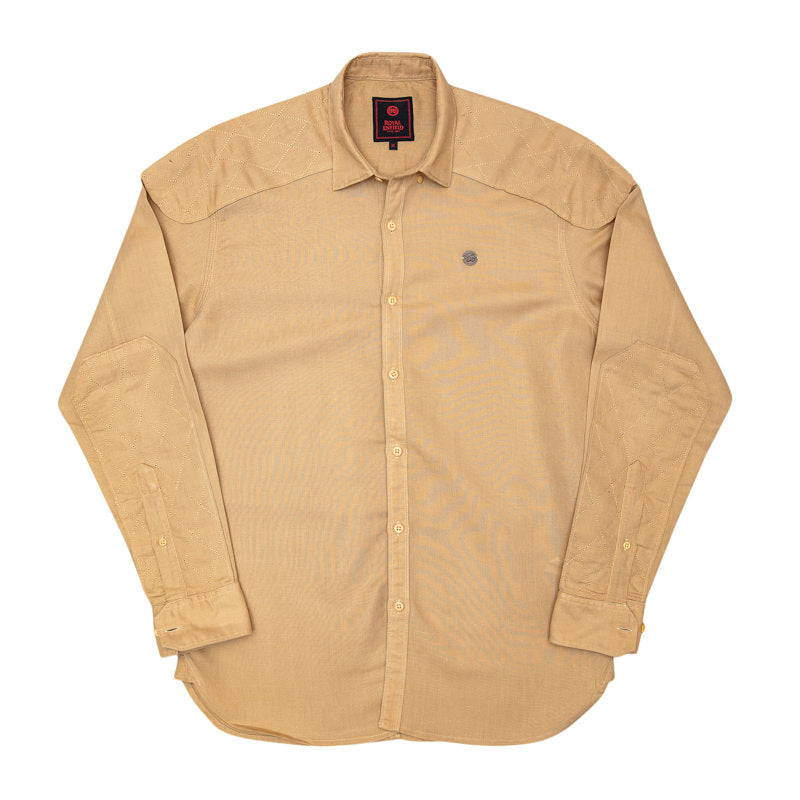 LINEN COTTON SHIRT - KHAKI