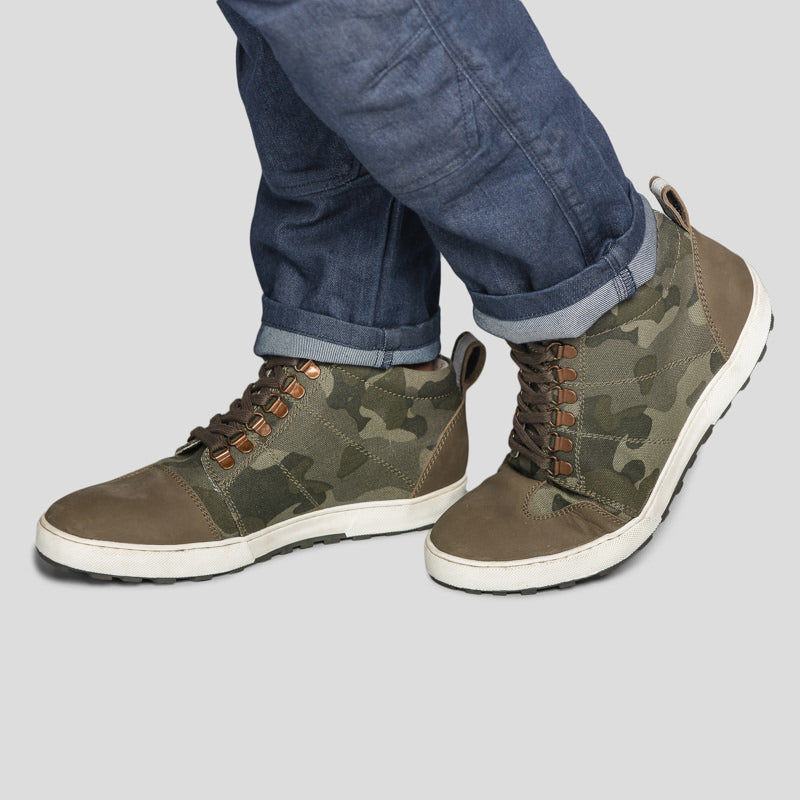 GEOFF SNEAKERS - CAMO GREEN