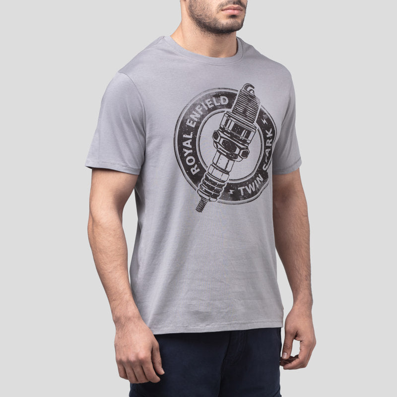 TWIN SPARK T-SHIRT - GREY