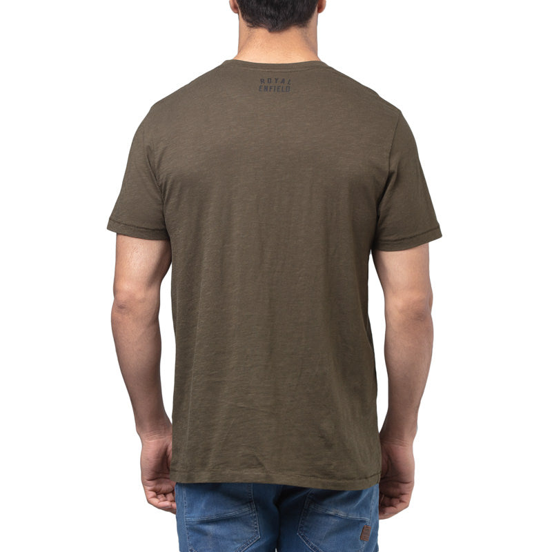 BLACK CAT T-SHIRT - OLIVE