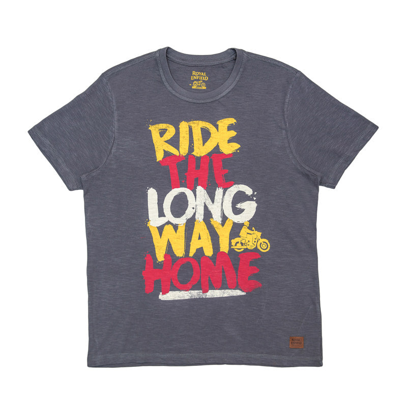 LONG WAY HOME GRAFFITI T-SHIRT - CHARCOAL