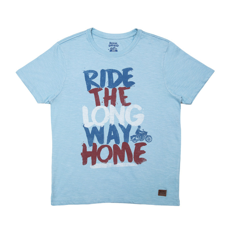 LONG WAY HOME GRAFFITI T-SHIRT - SKYBLUE
