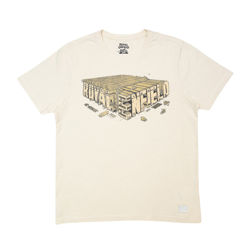 ISOMETRIC FACTORY T-SHIRT - OFF WHITE