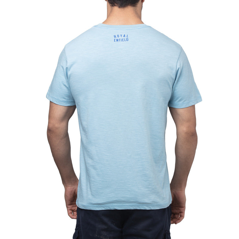 PRAYERS ON THE WIND T-SHIRT - SKY BLUE