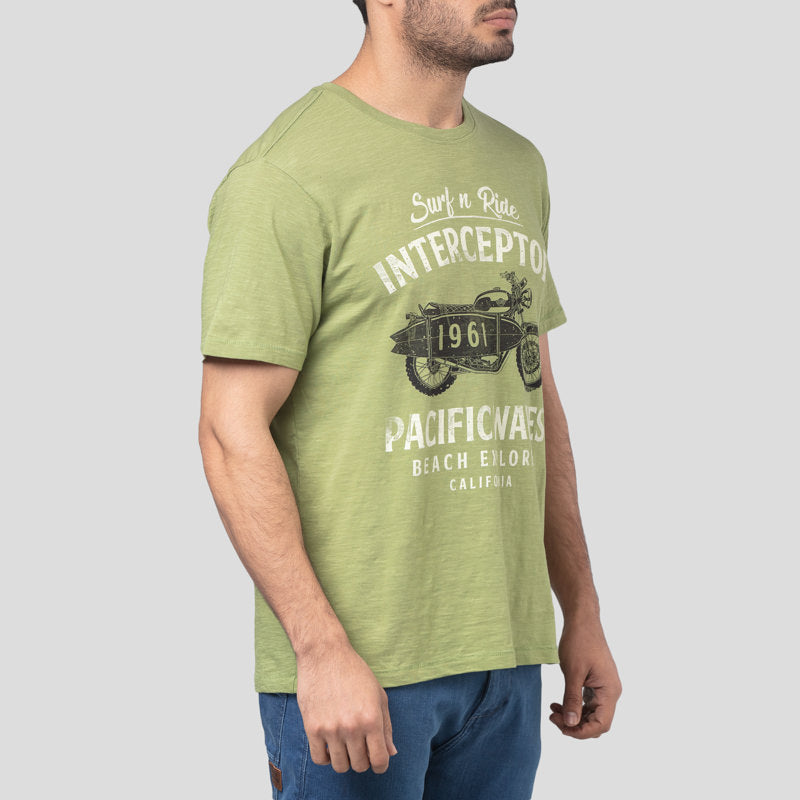 PACIFIC WAVES T-SHIRT - LEAF GREEN