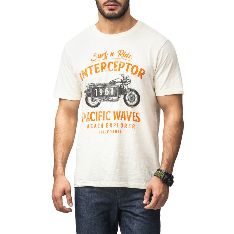 PACIFIC WAVES T-SHIRT - OFF WHITE