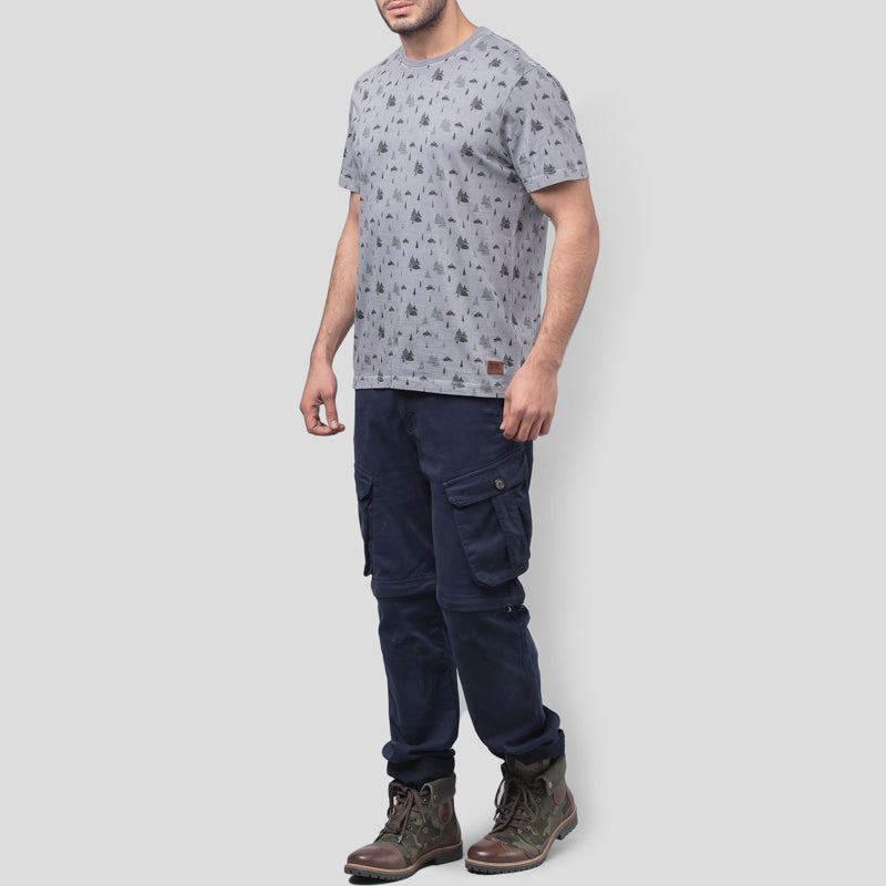 CONIFEROUS AOP T-SHIRT - GREY