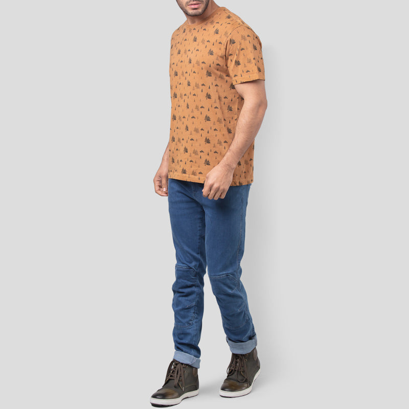 CONIFEROUS AOP T-SHIRT - RUST