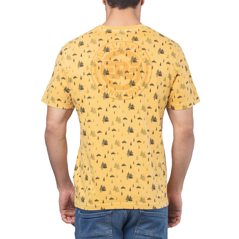 CONIFEROUS AOP T-SHIRT - YELLOW