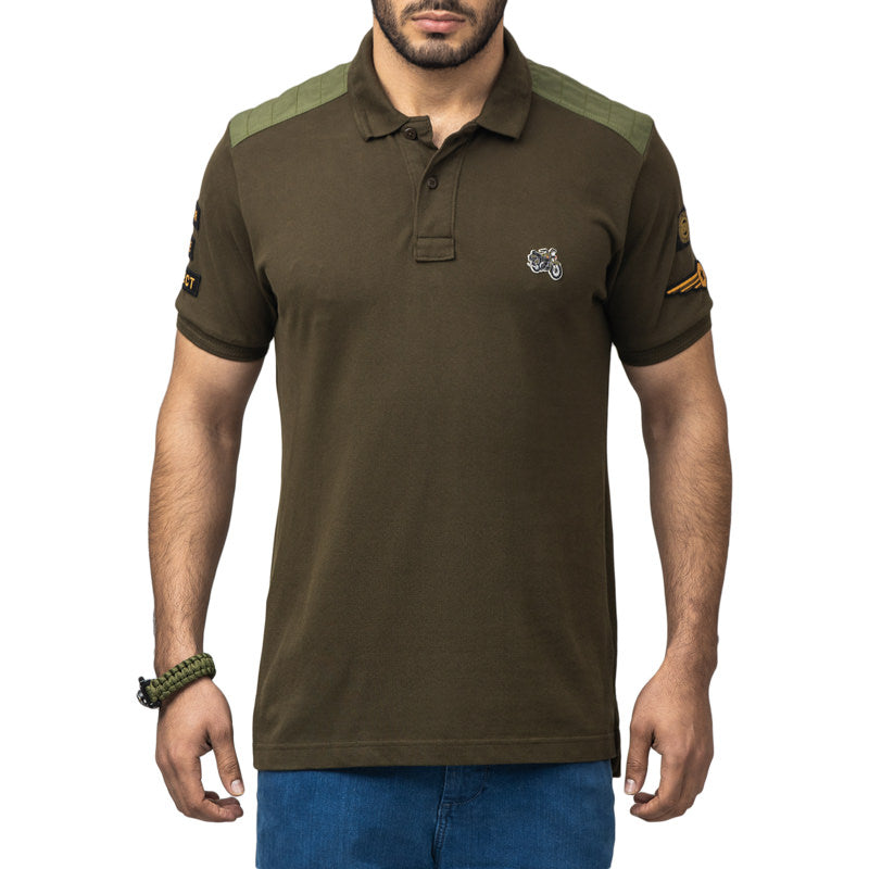 BULLET LEGEND POLO T-SHIRT - OLIVE
