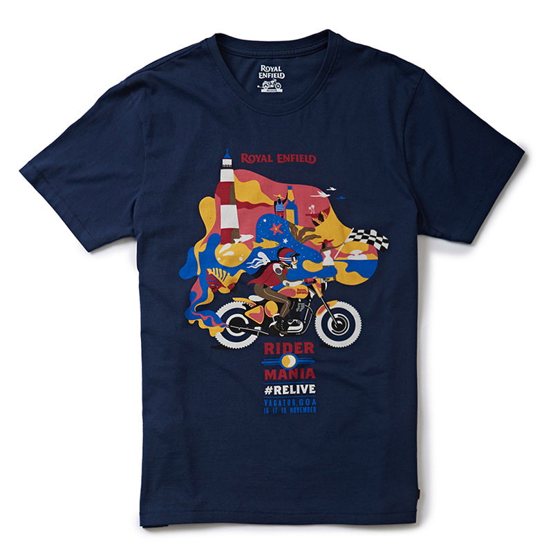 Rider Mania 2018 Men'S T-Shirt Navy Blue